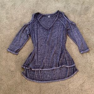 Ana Cold Shoulder Quarter Sleeve Top